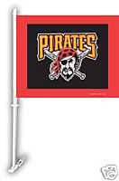 MLB PITTSBURGH PIRATES CAR TRUCK FLAG WITH WALL MOUNT