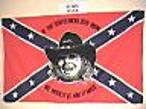 HANK WILLIAMS JR REBEL CONFEDERATE FLAG 3X5 FT