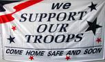 WE SUPPORT OUR TROOPS FLAG 3'X5'