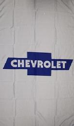 CHEVROLET WHITE VERTICAL FLAG BANNER