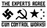 The Experts Agree Gun Control Works flag