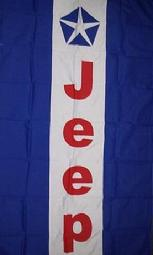 JEEP BLUE STRIPE VERTICAL FLAG BANNER