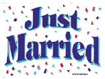 JUST MARRIED 3'X5' FLAG