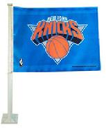 KNICKS-NEW YORK KNICKS CAR ROLL UP FLAG WITH WALL MOUNT