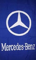 MERCEDES-BENZ BLUE VERTICAL BANNER FLAG
