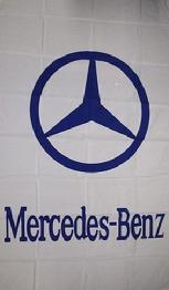 MERCEDES-BENZ WHITE VERTICAL FLAG BANNER