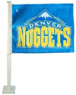 NUGGETS DENVER NUGGETS CAR ROLL UP FLAG WITH WALL MOUNT