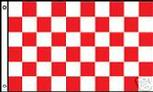 WHITE RED CHECKERED FLAG