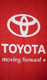 TOYOTA RED VERTICAL FLAG BANNER