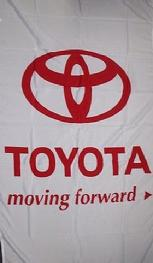 TOYOTA WHITE VERTICAL FLAG BANNER
