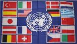 UN W/NATIONS FLAGS FLAG 3X5 FT