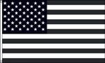 Black White USA flag