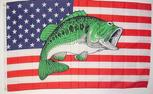 USA BASS FISH FLAG 3' X 5'