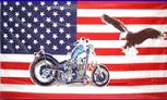 USA BIKE AND EAGLE FLAG 3' X 5'