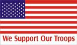 USA WE SUPPORT OUR TROOPS USA FLAG 3' X 5'