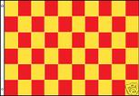 YELLOW AND RED CHECKERED FLAG