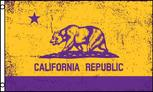 PurpleYellow California flag