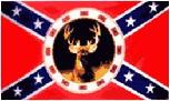 REBEL BUCK FLAG 3x5