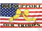 WE SUPPORT USA RIBBON FLAG 3'X5'