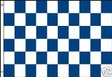 BLUE AND WHITE CHECKERED FLAG
