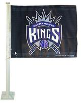 KINGS-SACRAMENTO KINGS CAR ROLL UP FLAG WITH WALL MOUNT