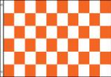 ORANGE AND WHITE CHECKERED FLAG