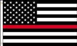 Red line USA flag