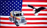 USA TRUCK AND EAGLE FLAG 3' X 5'