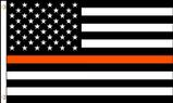 Orange line USA flag