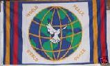 WORLD PEACE DOVE FLAG 3' x 5' BANNER