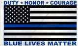 Blue Lives Matter flag USA