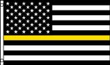 yellow line USA flag