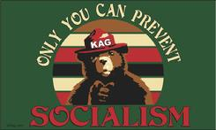 Smokey Bear Only You Can Prevent Socialism flag